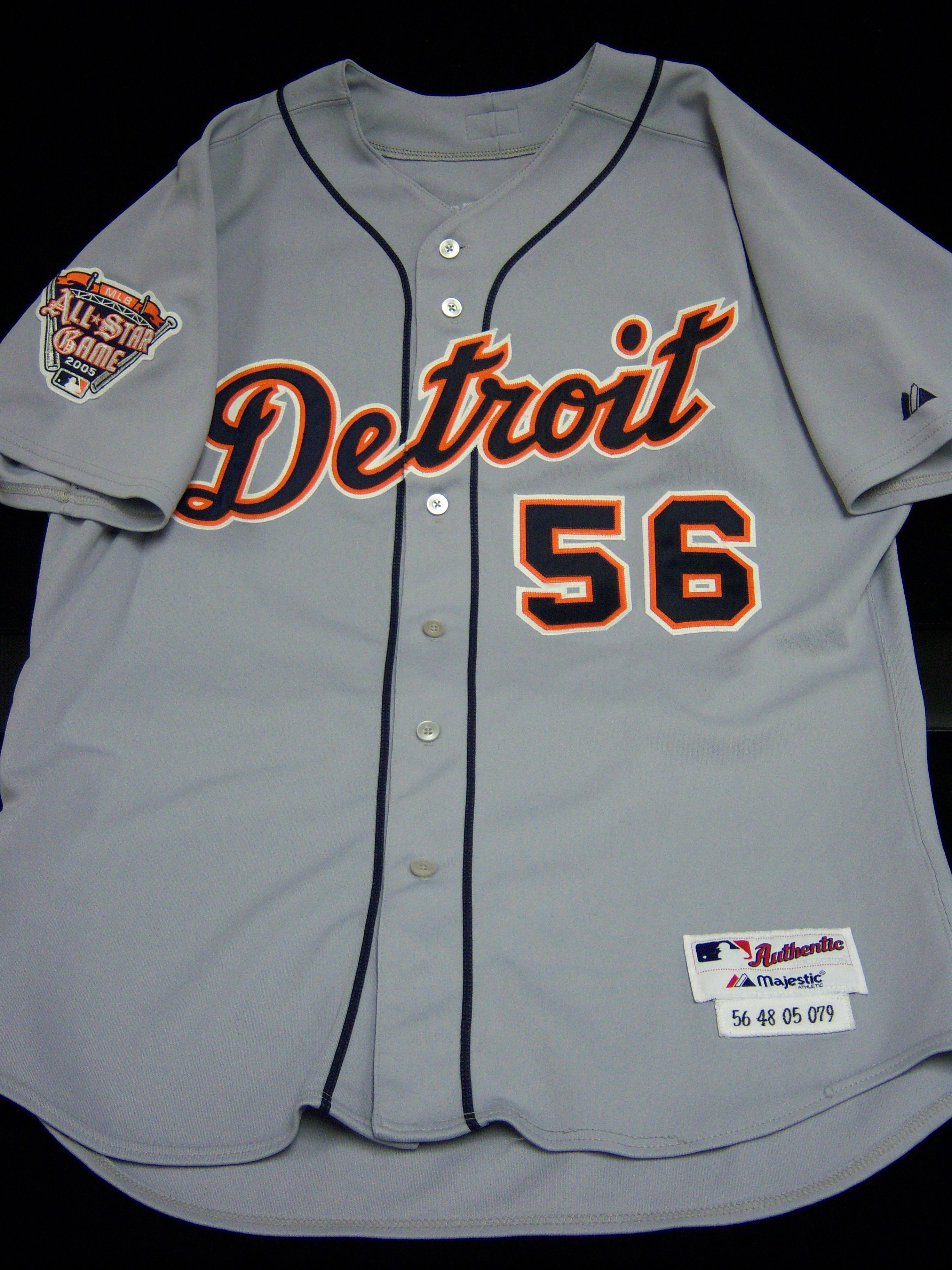 best cheap 5e168 9a09a Lot Detail - 2005 Detroit Tigers Road Jersey- #56 Fernando ...