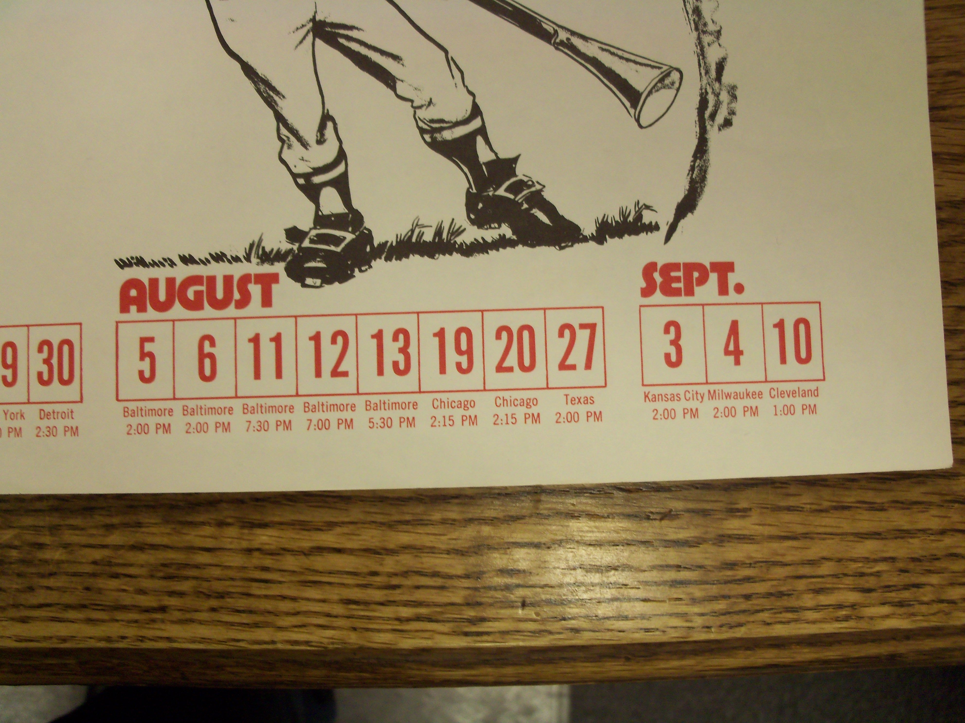 Lot Detail - 1972 WBZ-TV Boston Red Sox Fold-Out Schedule Featuring