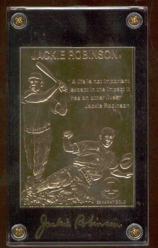 Lot Detail 1997 Gold Standard 22 Karat Gold Baseball Card Jackie