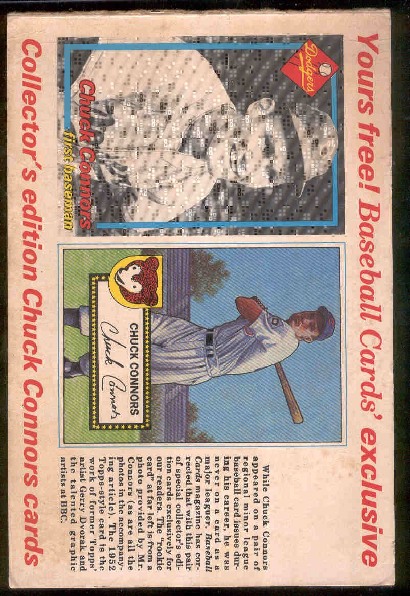 Lot Detail 1985 Baseball Cards Magazine Chuck Connors1952 Topps