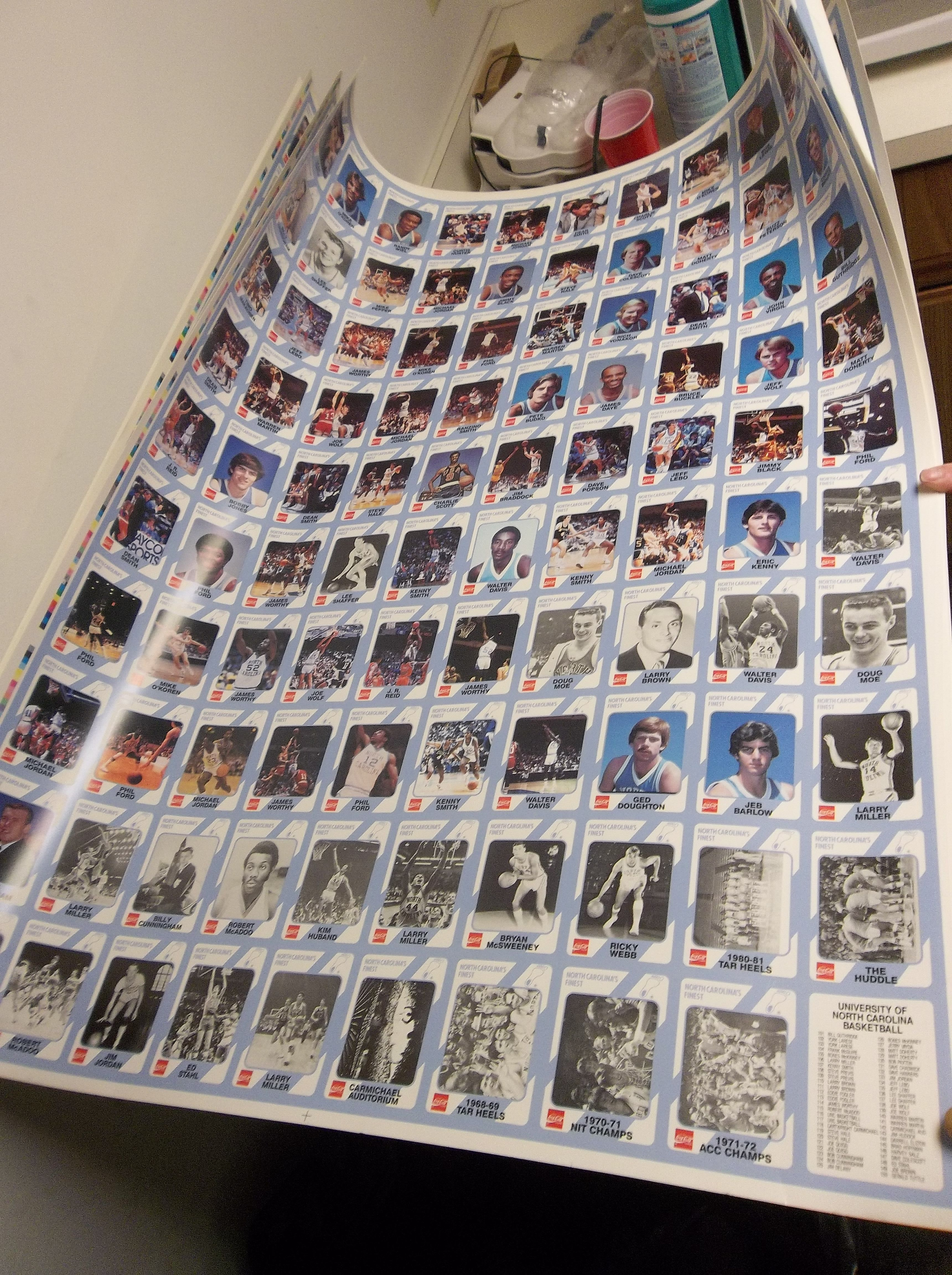 Lot Detail 1989 Collegiate Collection North Carolina Basketball