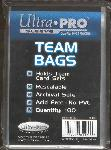 Ultra Pro Resealable Team Set Bags- 5 Packs of 100 Sleeves!