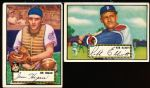 1952 Topps Baseball- 2 Diff. Black Backs