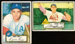 1952 Topps Baseball- 2 Diff. Red Backs