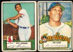 1952 Topps Baseball- 2 Diff. Low #'s