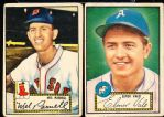 1952 Topps Baseball- 2 Diff. Low# Red Backs