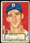 1952 Topps Baseball- #33 Warren Spahn, Braves