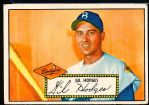 1952 Topps Baseball- #36 Gil Hodges, Dodgers