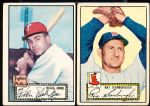 1952 Topps Baseball- 2 Low # Black Backs