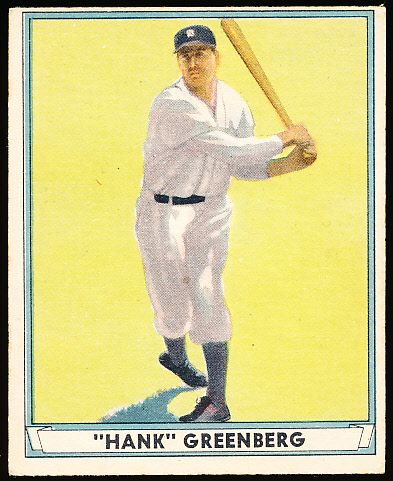 Lot Detail - 1941 Playball Bb- #18 Hank Greenberg, Tigers