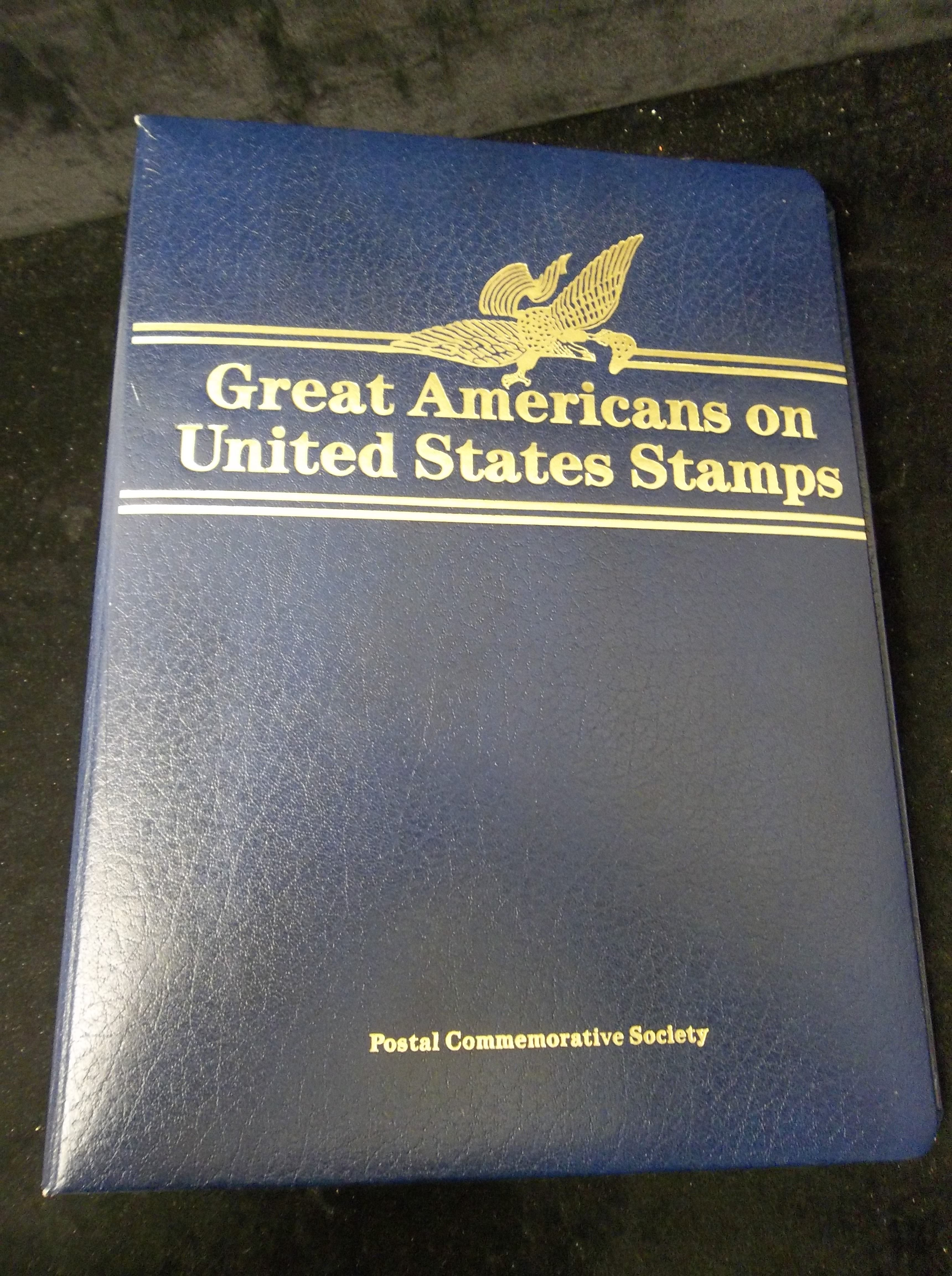 Postal Commemorative Society Great Americans On United States Stamps Empty Album With Pages For
