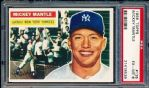 1956 Topps Baseball- #135 Mickey Mantle, Yankees- PSA Ex-Mt 6