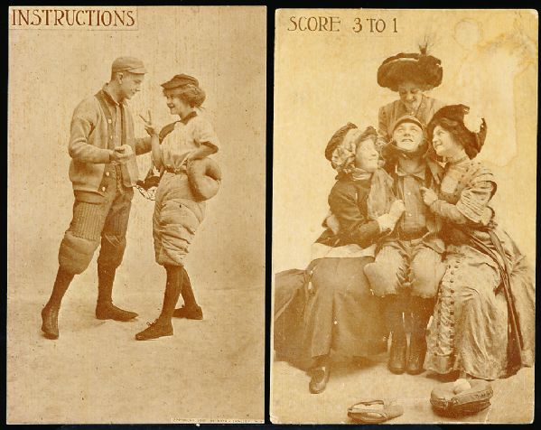 1910 Roth & Langley Risque Baseball Postcards (PC798-10)- Descriptions At Top- 8 Diff.