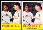 1963 Topps Bb- #138 Mays/Musial- 2 Cards