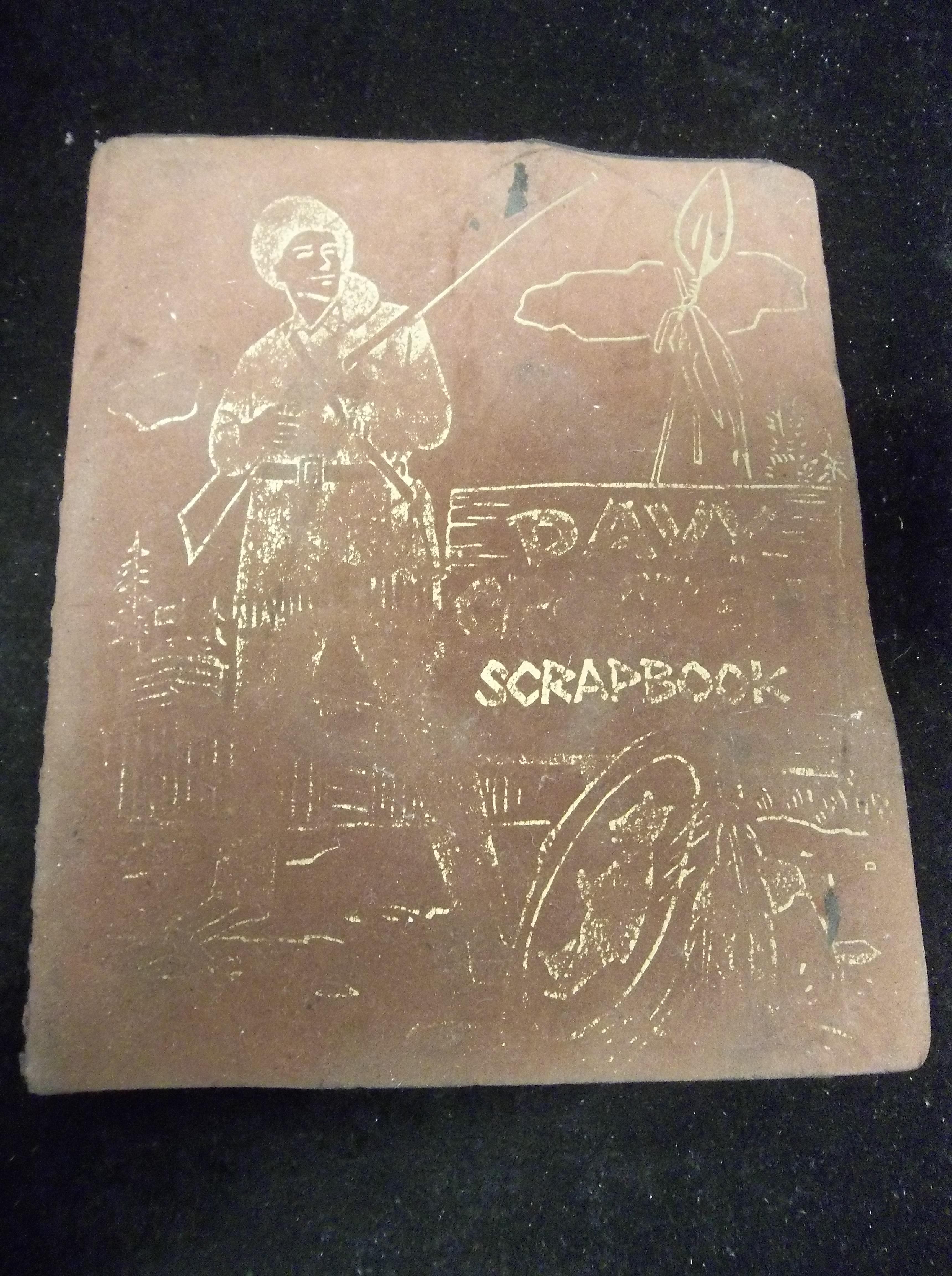 "Vintage Scrapbook Cover : Lot detail vintage s ""davy crockett scrapbook with"