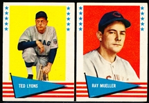1961 Fleer Bb Greats- 9 Diff.