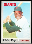 1970 Topps Bb- #600 Willie Mays, Giants