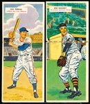 1955 Topps Bb Doubleheaders- 2 Diff.