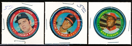 1971 Topps Bb Coins- 11 Coins
