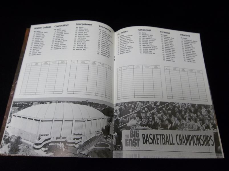 Lot Detail - 1981 Big East College Bskbl. Championship ...