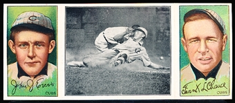 1912 T202 Triple Play- Evers Makes a Safe Slide- Chance/ Evers