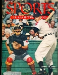 April 18, 1955 Sports Illustrated Bsbl.- Al Rosen Cover- 1955 Topps Baseball Paper Page Insert