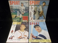 Clean-Up Lot of 4 Diff. 1949-50 Sport Magazine Bsbl. Covers