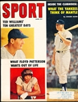 June 1959 Sport Magazine Bsbl.- Mickey Mantle/Ted Williams Cover