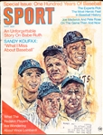 May 1969 Sport Magazine Bsbl.- 100 Years Special- Cobb, DiMaggio, Koufax, Mays, and Ruth Cover