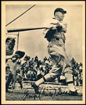 1934 Butterfinger Baseball Premium- George (Mule) Haas- Thin Paper Version