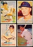 1957 Topps Bb- 4 Cards