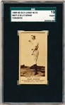 1889-90 N172 Old Judge Baseball- #407-3 Billy Serad, Toronto- SGC 10 (Poor 1)– Throwing Ball Pose