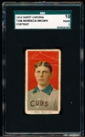 1910 T206 BB- Mordecai Brown, Chicago Natl- Portrait Pose- SGC 10 (Poor 1)-  Sweet Caporal 350 back