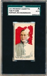 1911 T206 Bb- Ty Cobb, Detroit- Portrait, Red Background- SGC A (Authentic)- Piedmont 460 Back