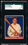 1933 Goudey Baseball- #63 Joe Cronin, Washington- SGC 50 (Vg-Ex 4)