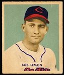 1949 Bowman Bb- #238 Bob Lemon RC- Vg-Ex no crs- Hi#.