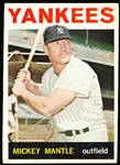 1964 Topps Bb- #50 Mickey Mantle, Yankees