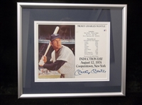 "Autographed & Framed Mickey Mantle Induction Day 8"" x 10"" Photo Matted and Framed to 13"" x 14-¾"""