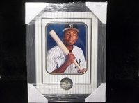 "Autographed & Framed Bernie Williams 8"" x 10"" Photo Matted and Framed to 14-½"" by 18-½"""