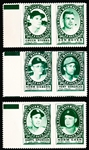 1961 Topps Bb Stamp Panels-3 Diff with Tabs