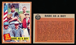 1962 Topps Bb-#135 Babe as a Boy- 4 Cards
