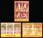 1962 Topps Bb- 5 Diff In Action Cards