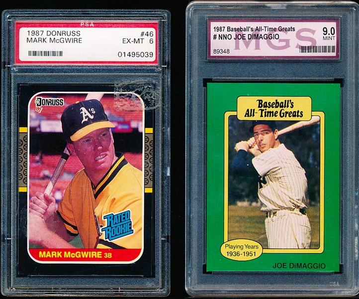 Three Graded Baseball Cards
