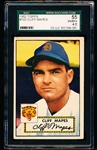 1952 Topps Baseball- #103 Cliff Mapes, Tigers- SGC 55 (Vg-Ex+ 4.5)