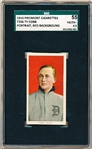 1909-11 T206 Bb- Ty Cobb, Detroit- Portrait Red Background – SGC 55 (Vg-Ex+ 4.5)- Piedmont 350 back.