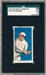 1909-11 T206 Bb- Tris Speaker, Boston Amer- SGC 20 (Fair 1.5)- This card has a Piedmont 350 back