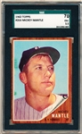1962 Topps Baseball- #200 Mickey Mantle, Yankees- SGC 70 (Ex+ 5.5)