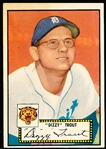 1952 Topps Baseball- #39 Paul Trout, Tigers- black back.