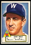 1952 Topps Baseball- #94 Sam Mele, Washington