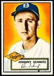 1952 Topps Baseball- #136 Schmitz, Brooklyn